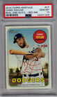 2018 Topps Heritage Chris Taylor Real One Autograph RED # 69 PSA 10 Dodgers RARE