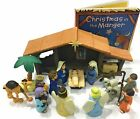 Nativity Playset for Children 19 Pieces by BibleToys Bundle Includes Christm