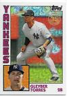 2019 TOPPS 84 CHROME SILVER PACK OF GLEYBER TORRES NY YANKEES SILVER PACK