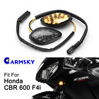 2x Amber LED Turn Signal Lights For Honda Grom CBR 600 F3 F4i 1000RR Flush Mount
