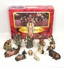 12 Piece Ceramic Figurine Holiday Nativity Boxed Set Rite Aid Complete