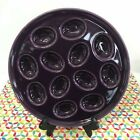 Fiestaware Mulberry Egg Tray Fiesta Charcoal Purple Deviled Egg Serving Plate
