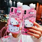 Cute Cartoon Hello Kitty Phone Case For Iphone X Xs Max Xr Soft Silicone Pink