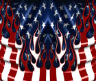 American Flag Hood Wrap Flames Stripes And Stars Car Or Truck Vinyl Graphics