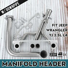 Set Manifold Header With Downpipe For 91-95 Jeep Wrangler YJ 2.5L L4 CE