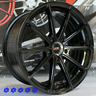 XXR 568 wheels Black 18 +20 Staggered rims 5x1143 Fit 90 95 96 Nissan 300zx TT