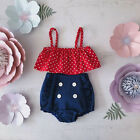 US Newborn Toddler Baby Girl Tube Tops+ Ruffle Shorts Pants Outfit Clothes Set