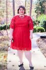 FLARE LINED LACE DRESS PLUS Sz 20