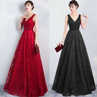 NEW Evening Formal Party Ball Gown Prom Bridesmaid Lace Sequins Long Dress 6 22