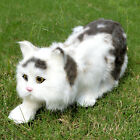 Realistic Handcrafted Life Size Cat Prop Decor Figurine Rabbit Fur Furry Pet Toy