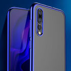 For Samsung Galaxy A50 A30 A10 Shockproof Slim Plating Clear Rubber Case Cover