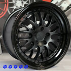 XXR 570 wheels 18 +35 Staggered Flat Black Gloss Lip 5x1143 Fit 96 Nissan 300zx