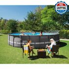 Above Ground Swimming Pool Set 22 x 52 w Filter Pump Ultra Frame Ladder Cover