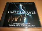 SIGNED AUTOGRAPH m night shyamalan UNBREAKABLE soundtrack CD james newton howard
