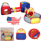Children Baby Kids 3 In 1 Ball Pit Tent Tunnel Play House In Outdoor Toy Gift