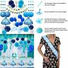 Baby Shower Decorations For Boy Party Supplies Kit Its A Pennant Banner Pom
