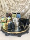 Vintage Salt And Pepper Shakers Lot Of 7 Pair Mid Century