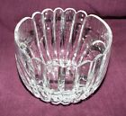 SMALL ART DECO BOWL, Clear Glass Unique pattern Candy Bowl Nut Dish  l 3.5