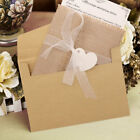 Marriage Wedding Invitations Cards  Envelopes Burlap Rustic DIY Party Favors