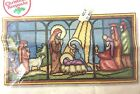 Sunset Stained Glass Nativity Needlepoint Kit Large Holiday Christmas 6090 Wool