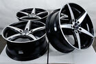 16 Wheels Toyota Prius Matrix Corolla Camry Honda Accord Civic Black Rims 5 Lugs
