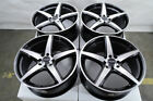 16 Wheels Honda Accord Civic Ford Contour Escort Fiesta Corolla Black Rim 4 Lug