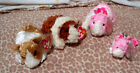 4 Ty Beanie Babies, Guinea Pigs,Twitch, Reese, Rosa & Rosa Clip