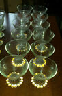 Set of 12 Vintage Anchor Hocking Clear Glass Boopie Footed Sherbet/Dessert Cups