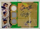 2017 Topps TT RC Cody Bellinger Seager Urias Triple Auto Relic Emerald