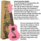 NEW Ukulele Bundle with Canvas Tote Bag Strap  Picks + More PINK Shipped FREE