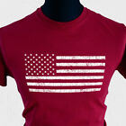 American Flag T Shirt Grunge Distressed Vintage Cool Stars Stripes USA States CR
