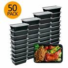 Meal Prep Containers 50 Pack Bento Boxes Disposable Plastic Bento Insulated Lun