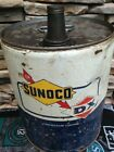 SUNOCO / DX 5 GALLON OIL CAN IN VERY NICE SHAPE DISPLAYS GREAT!