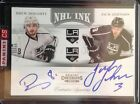 2011-12 Panini Contenders Drew Doughty Jack Johnson NHL Ink Dual Auto Kings SP