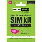 Simple Mobile Keep Your Own Phone 3 In 1 Prepaid Sim Kit