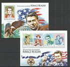 ST1116 2014 GUINEA-BISSAU FAMOUS PEOPLE RONALD REAGAN KB+BL MNH STAMPS