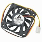 200 Pcs 12V 3Pin 6cm 60mm 60x60x10mm Brushless PC Computer Cooler Cooling Fan
