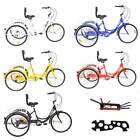 Adult 7 Speed Adult24 3 Wheel Tricycle Trike Bicycle Bike Cruise With Basket US