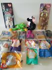 RARE MINT Retired McDonalds Toys Ty Beanie Babies Lot of 14 Charities Legends