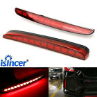 Red Lens Full LED Bumper Reflector Tail & Brake Lights For Honda Civic 2017-2019
