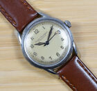 Vintage GIRARD PERREGAUX Gyromatic Stainless Steel Automatic Leather Men's Watch