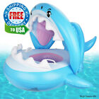Baby Pool Float Swimming with Canopy Inflatable Floatie Swim Ring for