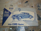 Revell Highway Pioneers 1936 Cord Phaeton instruction sheet. 1954