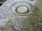 MINT Vintage Pressed Glass Punch Bowl Stand SWIRL PATTERN