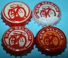 4 DIFFERENT NEW BELGIUM BREWING COMPANY BEER BOTTLE CROWN CAPS USED