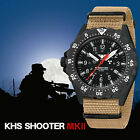 KHS Tactical Watch Infantry Shooter MKII Field Trigalights© Date Army Strap TAN