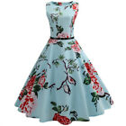 Women Summer Floral Rockabilly Dress Pin Up Vintage Style 50s 60s Party Sundress