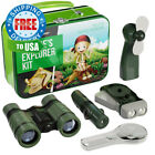 9 in 1 Outdoor Exploration Kit for Young Kids Tin Case with Explorer