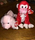 RETIRED NEW Valentine and Sonnet Ty Beanie Babies 2003 with ERRORS