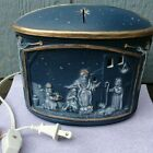 Vintage Ceramic Mold Christmas Nativity Light up decorative box with lid Lamp